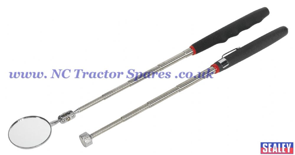 Telescopic Magnetic Pick-Up Tool & Inspection Mirror Set 2pc